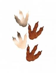 6 impronte di dinosauro marrone e dorate 15 x 13 cm