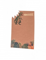 8 inviti di compleanno in cartone dinosauri 18 x 12 cm