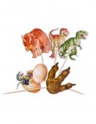 20 Stuzzicadenti in legno Dinosauri 12.5 cm