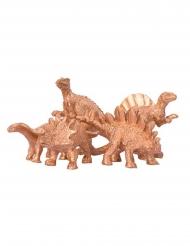 5 dinosauri decorativi 6 x 1.5 cm