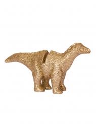 4 Segna posto in resina dinosauro dorato 9.5 x 9 cm