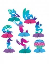 8 mini centro tavola in carta sirena 7 - 10 cm