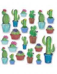 20 ritagli in cartone cactus 7 - 38 cm