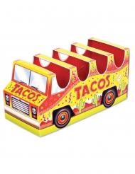 Centro tavola 3D mini bus tacos in cartone 12 x 25 cm