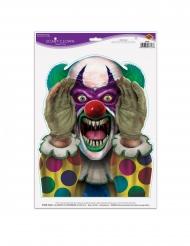 Adesivo clown spaventoso