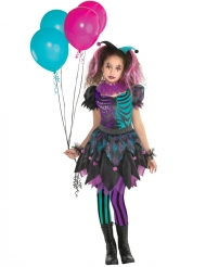 Costume da giullare tormentato per bambina