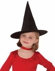 Cappello nero da strega per bambina