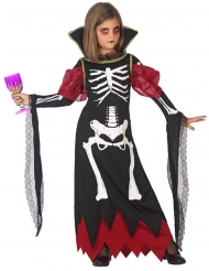 Costume scheletro vampiro per bambina