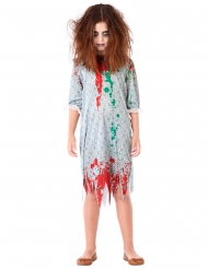Costume da zombie in camicia da notte per bambina