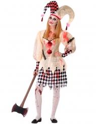 Costume da giullare insanguinato adolescente