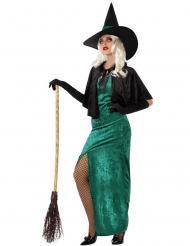 Costume da strega verde dell