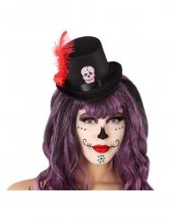 Mini cappello a cilindro dia de los muertos adulto