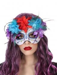 Maschera multicolore dia de los muertos adulto