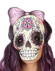 Maschera scheletro dia de los muertos con fiocco adulto