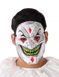 Maschera clown demoniaco per adulto