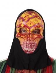 Maschera scheletro rosso adulto