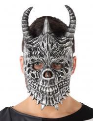 Maschera drago grigio adulto