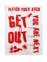 Scritte adesive insanguinate Get Out 42 x 19 cm