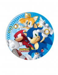 8 Piatti di carta Sonic™ 23cm