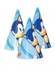6 Cappellini da festa in cartone Sonic™