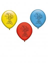 8 palloncini in lattice rosso blu e giallo Sonic™