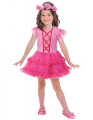 Costume da piccola ballerina rosa per bambina