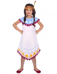 Costume da indiana colorata per bambina