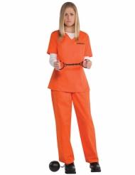 Costume prigioniera arancione per donna
