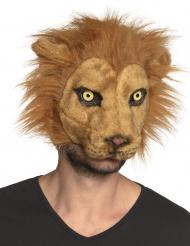 Maschera leone peluche adulto