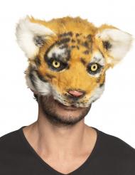 Maschera tigre peluche adulto