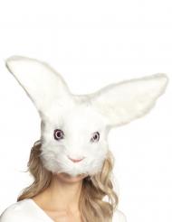 Maschera coniglio di peluche adulto