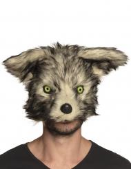 Maschera lupo mannaro con pelo per adulto
