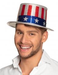 Cappello a cilindro USA con paillettes adulto