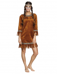 Costume indiana Finto daino donna