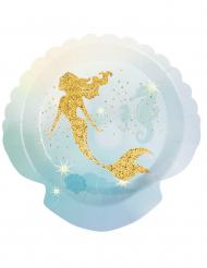 6 Piatti sirena laguna in cartone 18cm