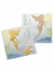 12 Tovaglioli sirena laguna in carta