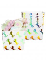 6 scatole per caramelle Unicorno olografico