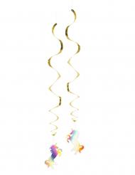 2 Decorazioni da appendere unicorno olografico 85 cm