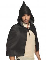 Mantello corto medievale nero per adulto