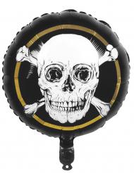 Palloncino in alluminio pirata Jolly Roger