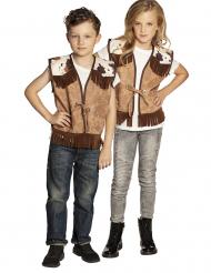 Gilet marrone da cowboy per bambino