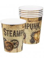 6 Bicchieri in cartone steampunk