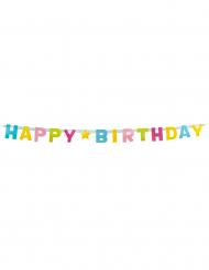 Ghirlanda colorata Happy Birthday in cartone