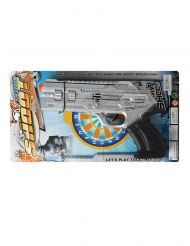 Pistola argentata da poliziotto