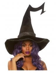 Cappello nero deluxe da strega per adulto