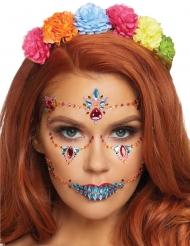 Strass viso adesivi Dia de los Muertos