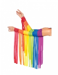 Manicotti a frange arcobaleno adulto