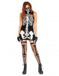 Costume Dia de los Muertos con giarrettiere per donna