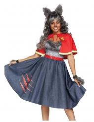 Costume deluxe studentessa lupo mannaro donna