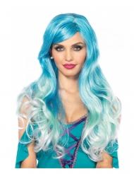 Parrucca lusso blu sirena donna